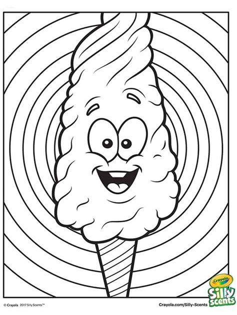 silly scents cotton candy coloring page crayolacom