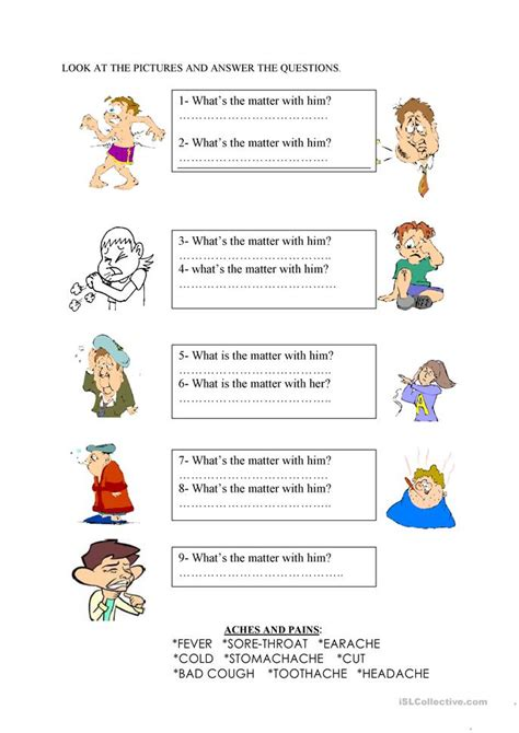 What's The Matter? Worksheet  Free Esl Printable Worksheets Made By Teachers