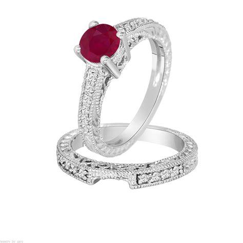 0 87 carat ruby engagement ring wedding by jewelrybygaro