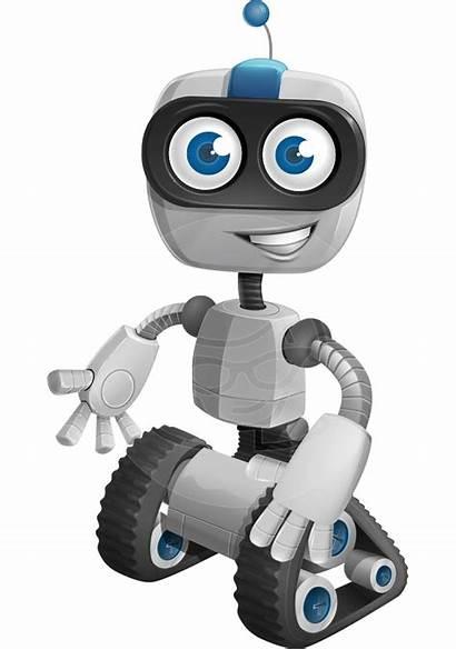 Robot Cartoon Robots Clipart Transparent Character Robotic