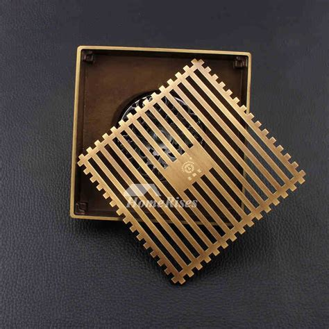 ascension vintage flooring luxury gold antique bronze odor removal square shower drain 1362
