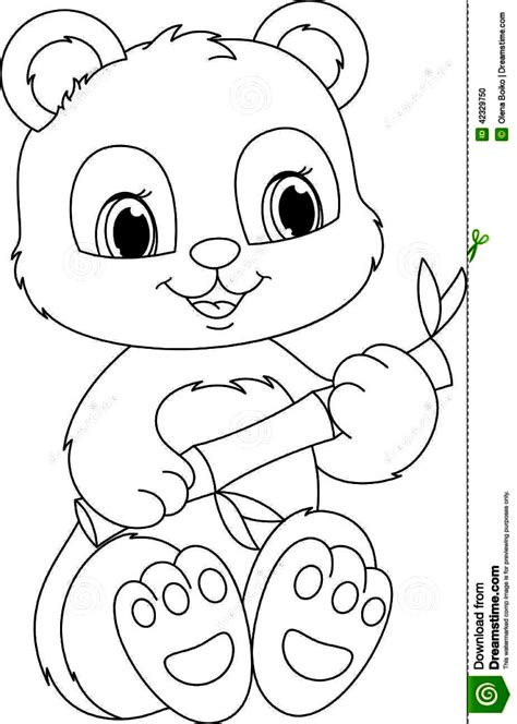 Kleurplaat Baby Panda by Panda Coloring Pages At Getcolorings Free Printable
