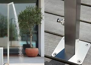gartendusche erfrischende abkuhlung schoner wohnen With französischer balkon mit wasserhahn wandmontage garten