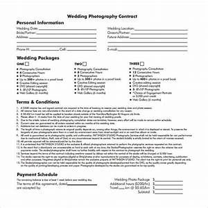 20 wedding contract templates to download for free With wedding photo contract