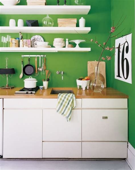 Open Kitchen Shelves Decorating Ideas - 11 ideas para usar el verde en las cocinas