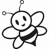 Bee Coloring Bumble Pages Cartoon Printable Hive Getcoloringpages sketch template