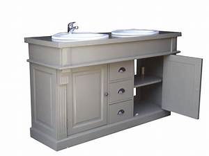 Meuble Bois Salle De Bain : meuble salle de bain pin massif ~ Dailycaller-alerts.com Idées de Décoration