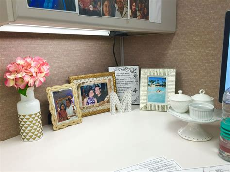 My Cubicle Decor And Organization... The Cake Stand Has 3