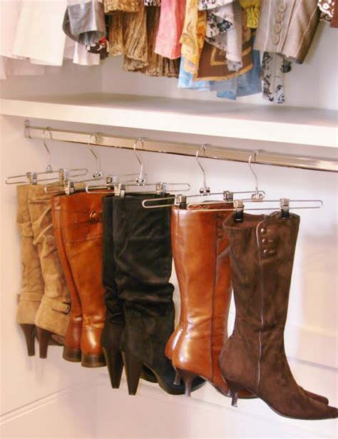 Organize Your Boots Using Clothing Hangers Alldaychic