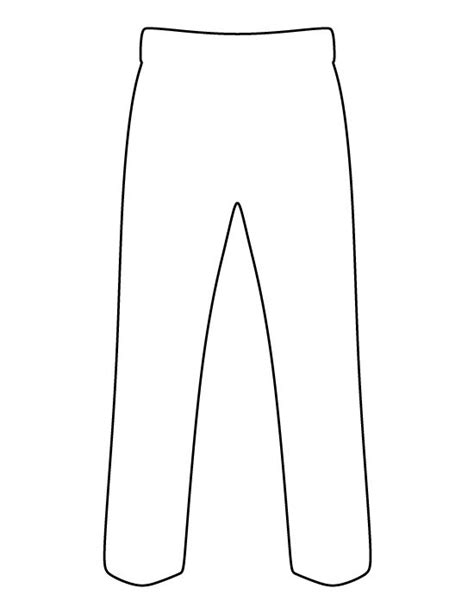 Transparent Template Pants by Pants Outline Clip Art 20