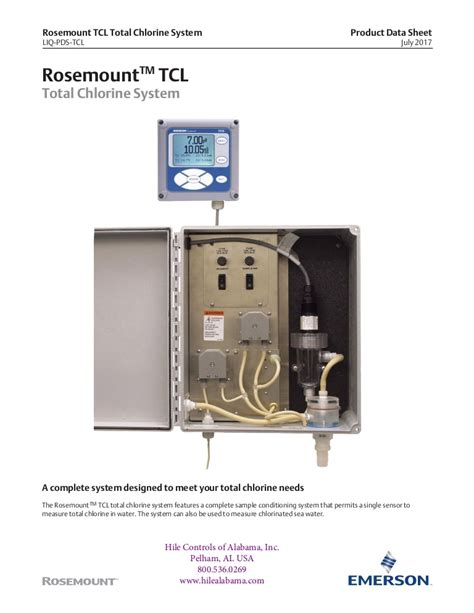 total chlorine analyzer system