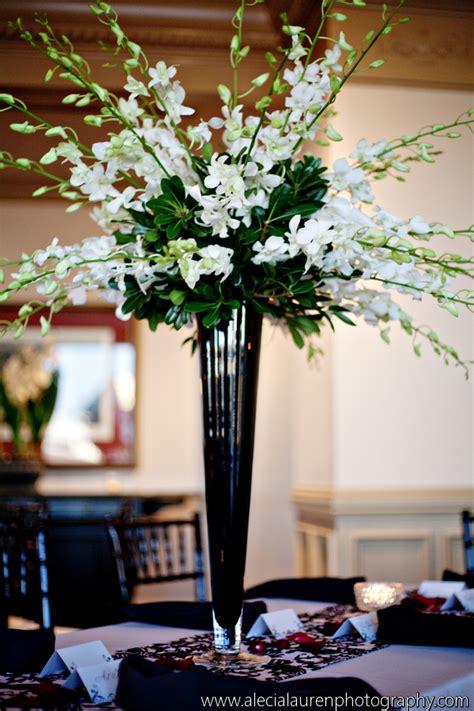 trumpet vases  wedding centerpieces