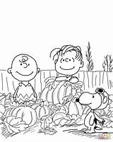 Coloring Halloween Charlie Brown Pumpkin Thanksgiving Snoopy Peanuts Supercoloring Heather Easter sketch template