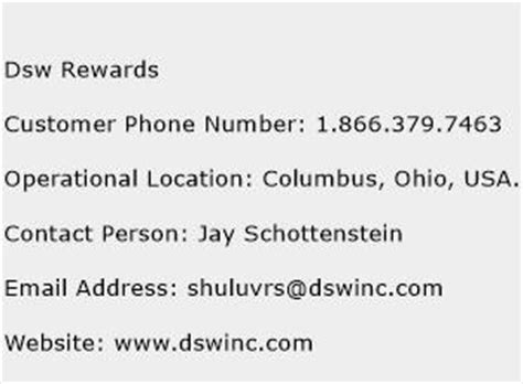 dsw phone number dsw rewards customer service phone number toll free