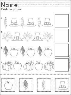 this is a free thanksgiving pattern worksheet for
