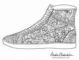 Coloring Shoe Pages Shoes Colouring Adult Sheets Books Kendra Doodles Birds Shedenhelm Printable Adults Doodle Hand Template Pattern Mandala Animal sketch template