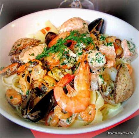 recette des tagliatelles aux fruits de mer aux grand bassins au havre normandie resto