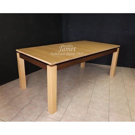table rectangulaire contemporaine en bois massif meubles jamet