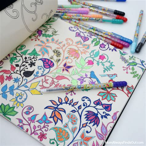 how to relax with gel pens and adult coloring books