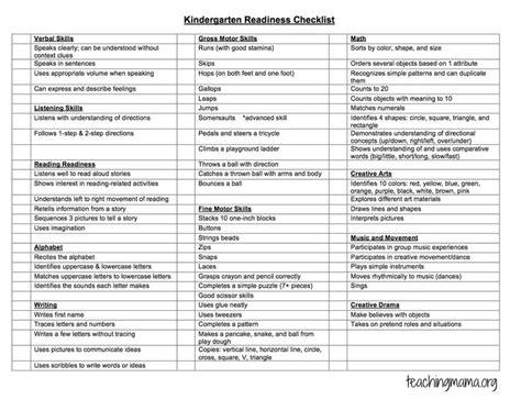 best preschool checklist ideas on preschool 673 | 7fbfd5f73d6491176fb8b5f8ca071c1b kindergarten readiness assessment kindergarten readiness checklist