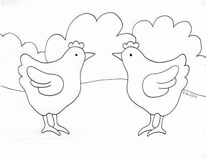 Chicken Coloring Barnyard Pages Chickens Folk Macdonald