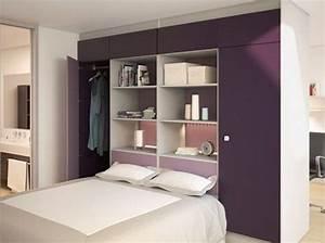 Dressing Derrière Tete De Lit : 15 id es de dressings pour un petit appartement elle ~ Premium-room.com Idées de Décoration
