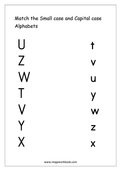 english worksheets alphabet matching megaworkbook