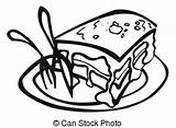 Lasagne Plate Clip Drawings Drawing Italian Serve Illustrations Illustration Icon Fork Knife Line Clipart Canstockphoto sketch template