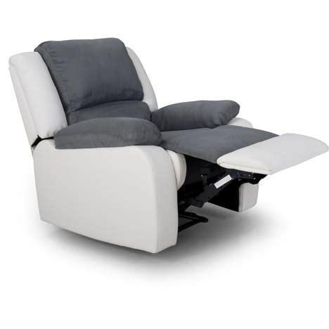 canapé d angle blanc conforama fauteuil relax simili et tissu helene pas cher à prix auchan