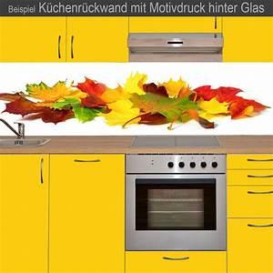 Küchenrückwand Glas Foto : k chenr ckwand aus glas mit motivdruck herbstbl tter ~ Michelbontemps.com Haus und Dekorationen