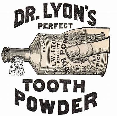 Antique Clip Advertisement Graphics Tooth Powder Dr