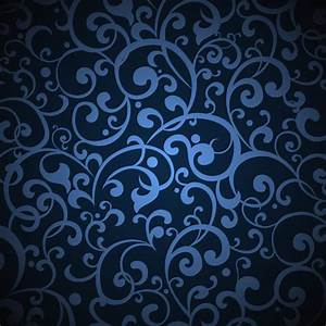Dark Blue Vintage Floral Pattern Background - WeLoveSoLo