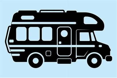 Motorhome Silhouette Clipart Caravan Camper Motor Rv