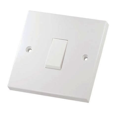 single light switch single white light switch 1 gang 2 way 8 5cm sq 10