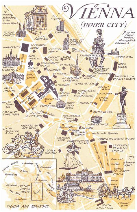 map  vienna austria maps   world pinterest