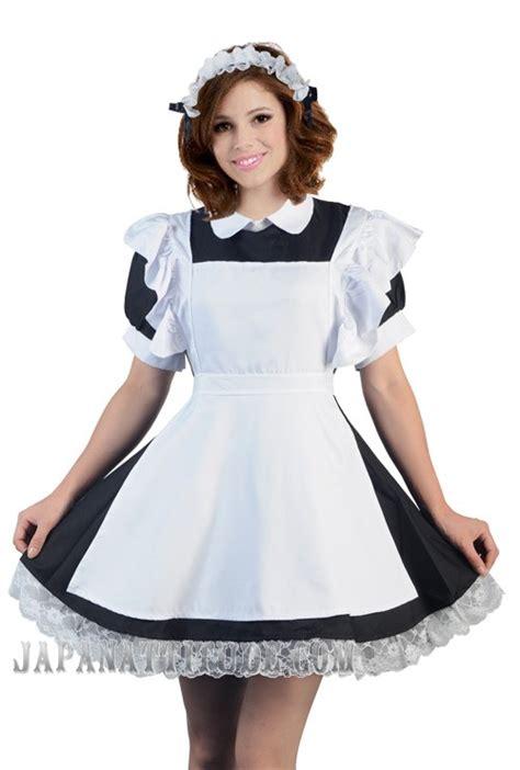 changer porte cuisine tenue serveuse et blanche kawaii mignonne