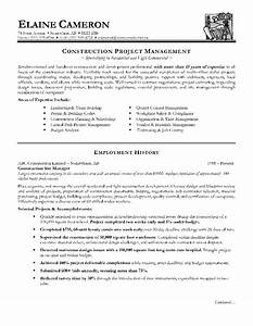 construction manager resume page 1 resume writing tips With construction resume writers