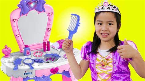 Jannie Pretend Play Princess Dress Up W Makeup Toys