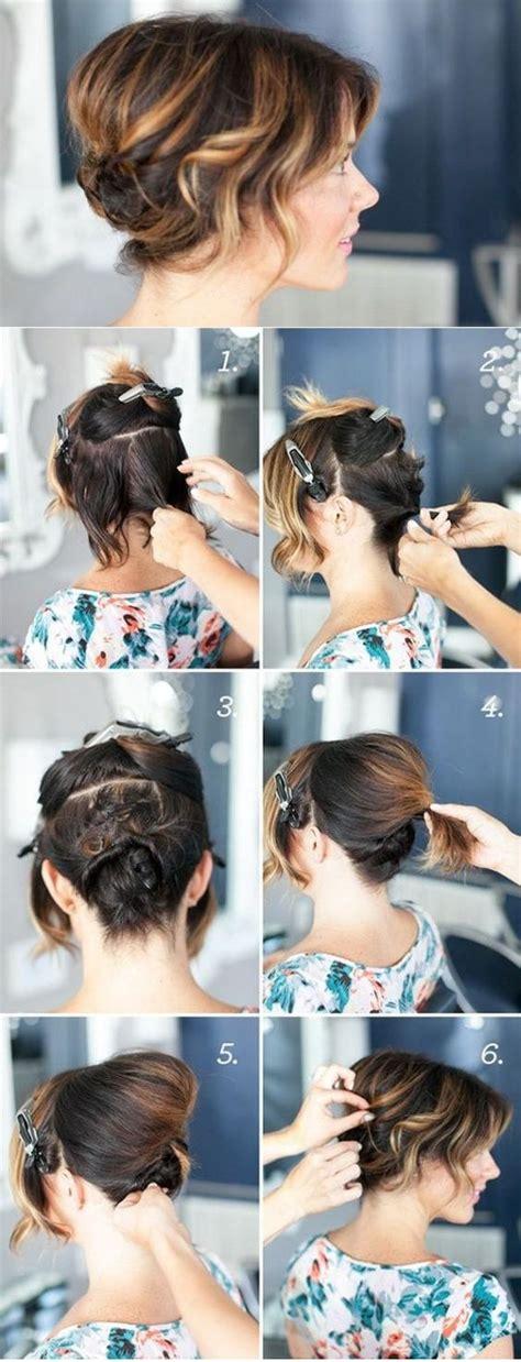 peinados de fiestas rapidos sencillos  elegantes