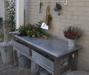 Hometalk How to Turn a Garden Table Into a Potting Bench