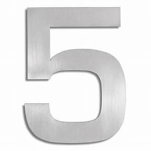 Numéro De Maison Design : signo chiffre 5 blomus numro de maison inox ~ Dailycaller-alerts.com Idées de Décoration
