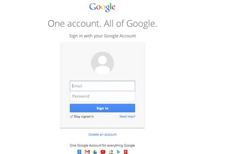 gmail   google services   unified login page