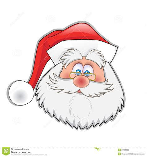 santas head stock vector image  excitement ecstatic
