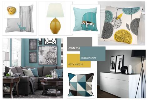 Bedroom Color Schemes With Teal by Grey Teal Ochre Scheme For A Family Living Room Home