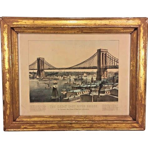 19805 vintage furniture nyc 144105 antique currier ives print the great east river bridge