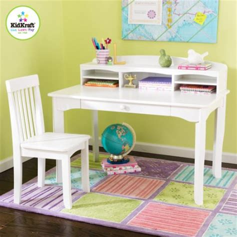 white desk chair walmart kidkraft avalon desk set with hutch and chair white