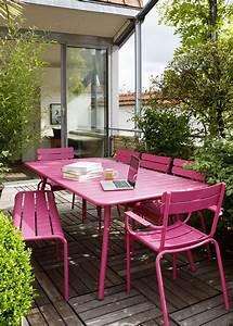 Mobilier De Jardin Fermob : fermob mobilier de jardin design fran ais m tal en couleurs ~ Dallasstarsshop.com Idées de Décoration