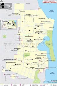 Northwestern University Map, Illinois | Northwestern ...