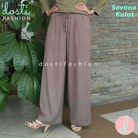 Celana Plisket Babat Cubit celana kulot panjang wanita bahan babat import plisket