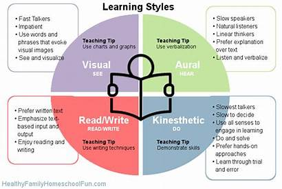 Vark Learning Styles Personality Chart Visual Kinesthetic
